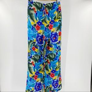 Vintage Nygard floral flowy pants high waisted